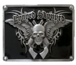 Lynyrd Skynyrd Belt Buckle with display stand. Made in USA. Officially licensed. Product code WE5